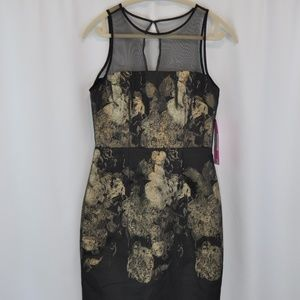 NWT Betsey Johnson Black and Gold dress - size 2.